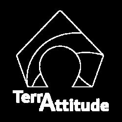 Terrattitude - Logo Filaire Blanc