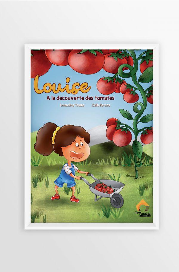 Terrattitude - Poster Louise à la découverte des tomates